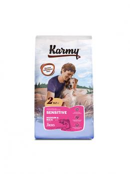 Karmy Sensitive Medium & Maxi сухой корм для собак средних и крупных пород с чувствительным пищеварением Лосось
