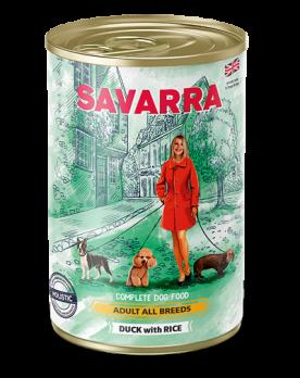 Savarra Adult All Breeds консервы для собак Утка/рис 395г