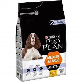 Pro Plan Medium Adult 7+ для взрослых собак старше 7 лет средних и крупных пород с курицей и рисом