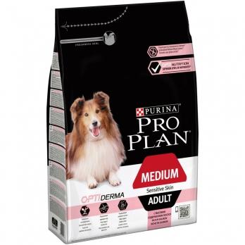 Pro Plan Medium Adult 7+ для взрослых собак старше 7 лет средних и крупных пород с чувствительной кожей с лососем и рисом
