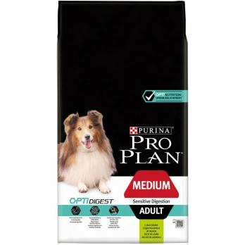 Pro Plan Medium Adult для взрослых собак средних пород с чувствительным пищеварением с ягненком и рисом