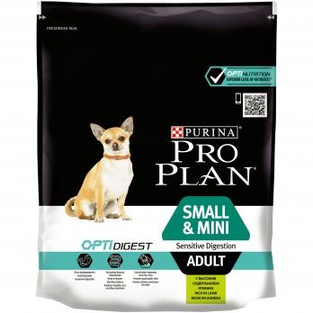 Pro Plan Small&Mini Adult для взрослых собак мелких и карликовых пород с чувствительным пищеварением с ягненком и рисом