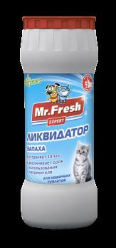 Mr.Fresh Expert Ликвидатор запахов 2в1для кошачьих туалетов, 500 гр F401