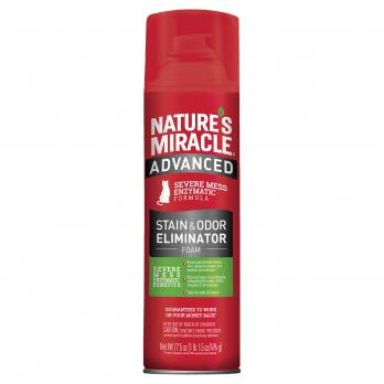Уничтожитель пятен и запахов с усиленной формулой 8in1 NM Cat Advanced Stain&Odor Eliminator 518 ml (аэрозоль-пена) для кошек, P-96947