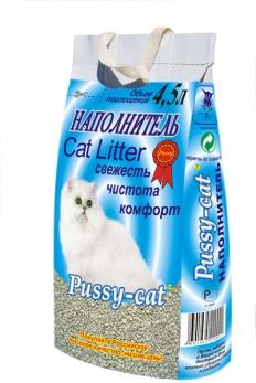 Pussy-cat наполнитель впитывающий цеолитовый 4,5 л