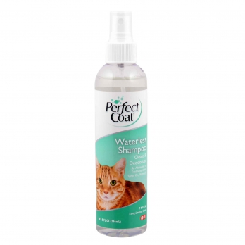 8in1 Perfect Coat Waterless Shampoo шампунь для кошек без смывания с ароматом свежести спрей 236 мл