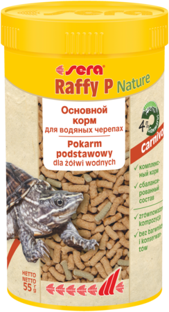Sera Raffy P основной корм для водяных черепах 250мл