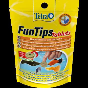 Tetra FunTips Tablets корм в таблетках для приклеивания к стеклу 20 таб