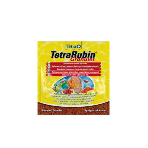 Tetra Rubin Granules корм в гранулах для улучшения окраса всех видов рыб 15 г (sachet)
