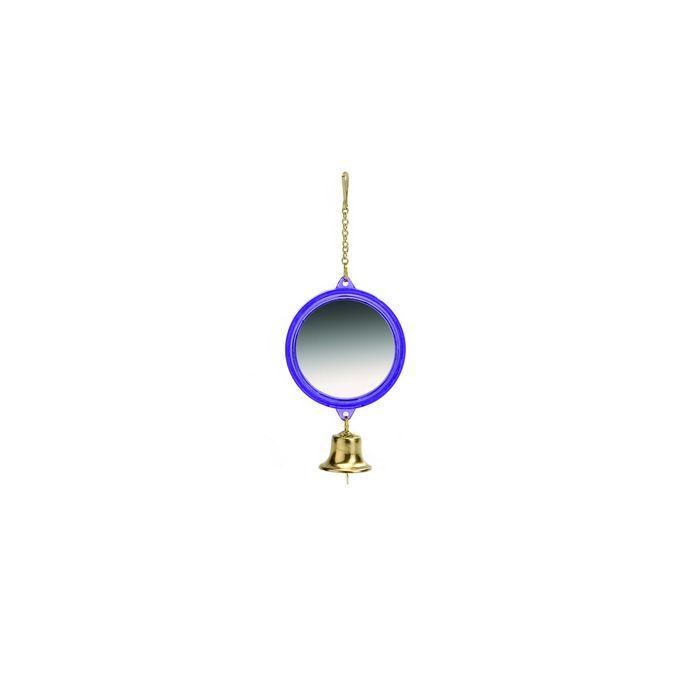 Beeztees Зеркало круглое с колокольчиком, пластик 8*5,5см