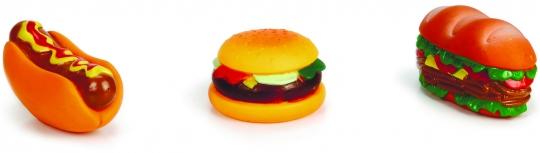 Beeztees Игрушка для собак (сэндвич, гамбургер, хотдог), винил, в ассорт. 11см