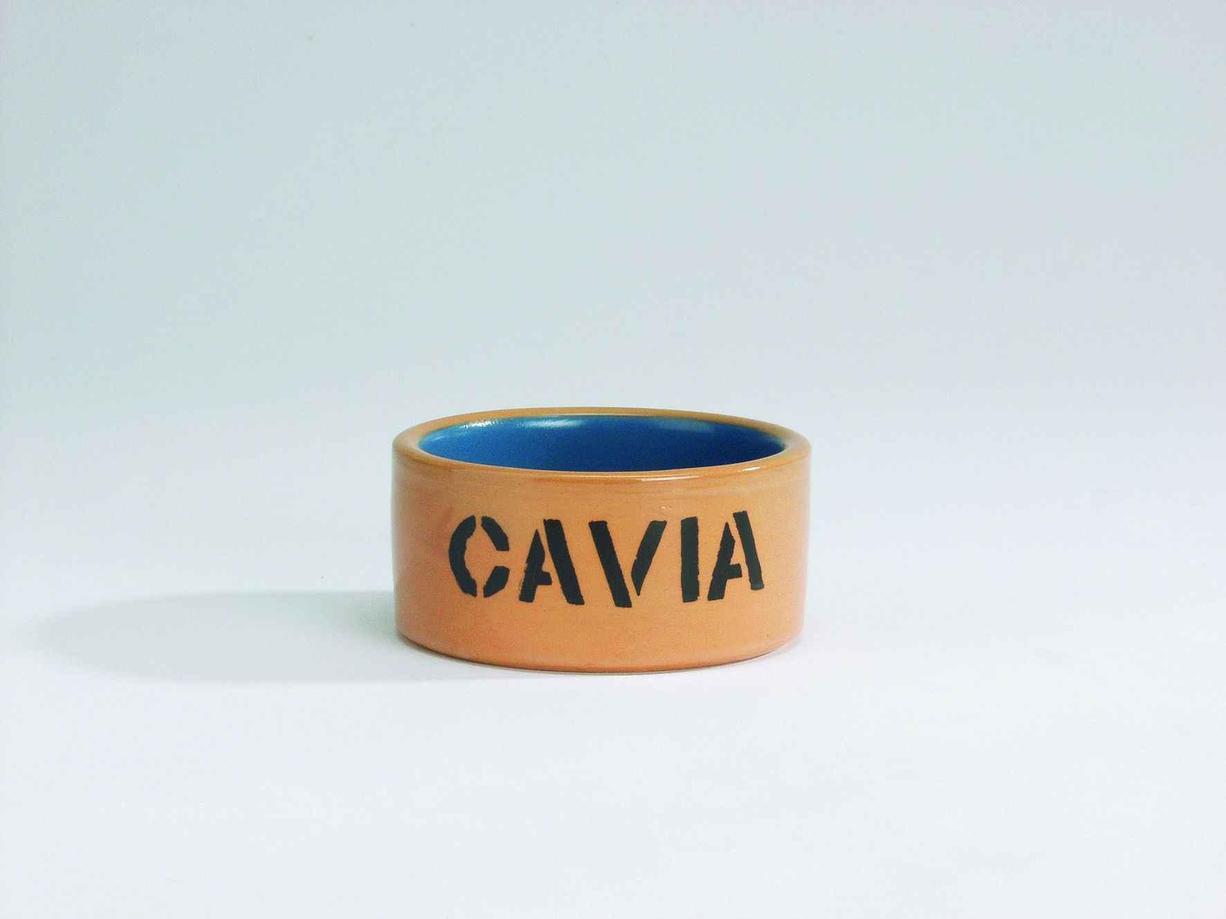 Beeztees Миска керамическая для морской свинки бежево-голубая 11,5см