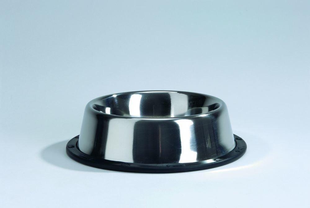 Beeztees Миска стальная хромированная нескользящая 300мл*13см