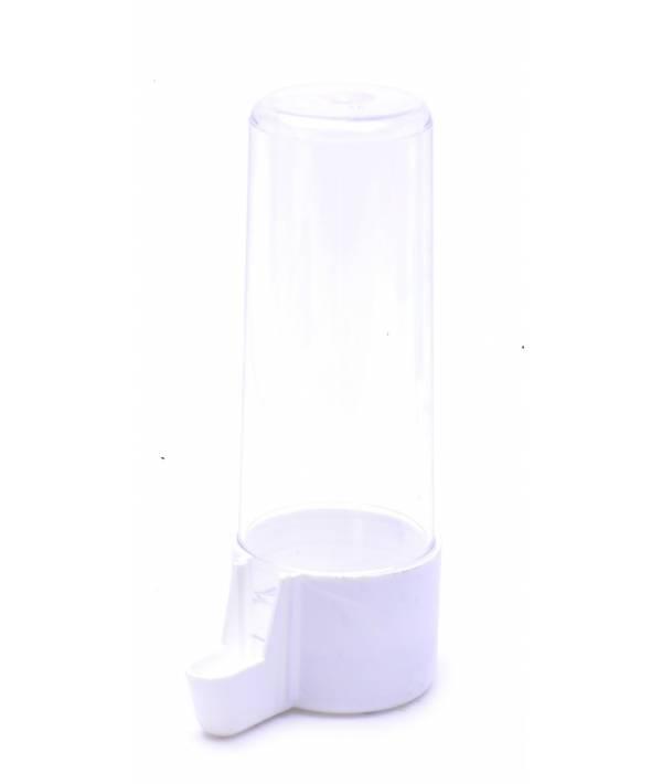 Beeztees Поилка для птиц евро-клик пластиковая белая 5,5*13см
