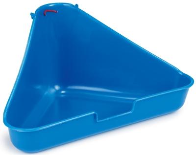 Beeztees Туалет для грызунов угловой, голубой цвет 35*20*17см
