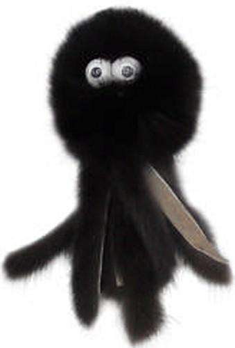 GoSi Игрушка для кошек Осьминог натуральная норка этикетка кружок