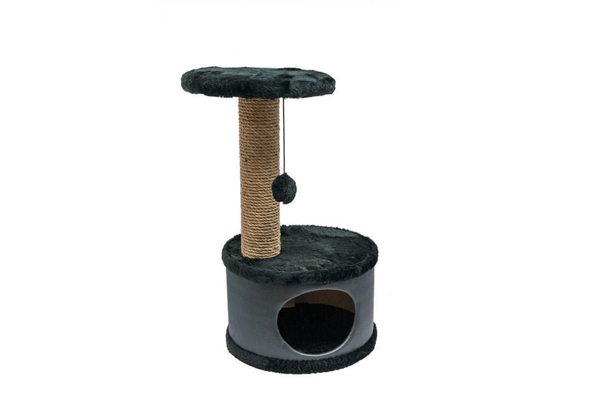 Дарэлл 81108 Домик-когтеточка Конфетти круглый, черный 37*37*h73см