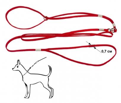 Дарэлл 421109 Ринговка капроновая красная с кольцом 7мм