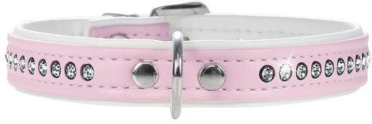 Hunter Smart ошейник для собак Modern Luxus 27/11 (20-23,5 см) кожзам 1 ряд страз розовый