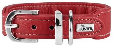 Hunter ошейник для собак Cannes Mini 37 (29-34)/2,5 см натуральная кожа красный