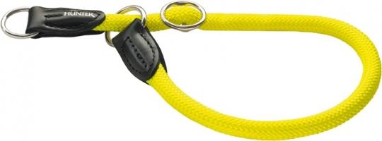 Hunter ошейник-удавка для собак Freestyle Neon 55/10 нейлоновая желтый неон