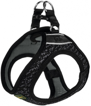 Hunter шлейка для собак Hilo Soft Comfort 31-33 см, сетчатый текстиль, черная