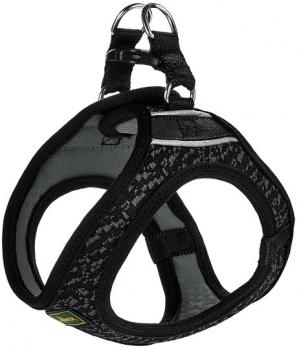 Hunter шлейка для собак Hilo Soft Comfort 33-36 см, сетчатый текстиль, черная