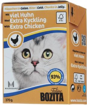 Bozita консервы для кошек кусочки в желе с курицей 370 г