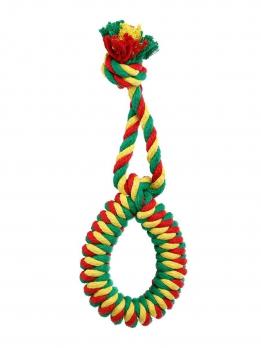 Doglike Кольцо канатное DL среднее (жёлтый-зеленый-красный)