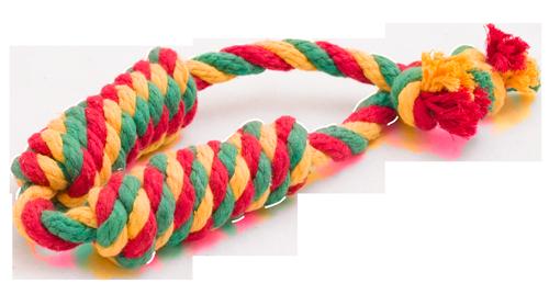 Doglike Сарделька канатная 2 шт DL большая (жёлтый-зеленый-красный)