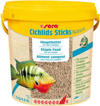 Sera Cichlids sticks палочки для всех цихлид и крупных рыб.