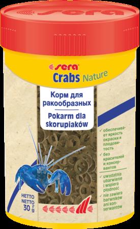 Sera Crabs natural 100мл.-30гр. гранулированный корм для ракообразных.