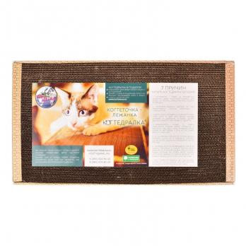 Когтедралка, когтеточка картонная с кошачьей мятой 56*30 большая