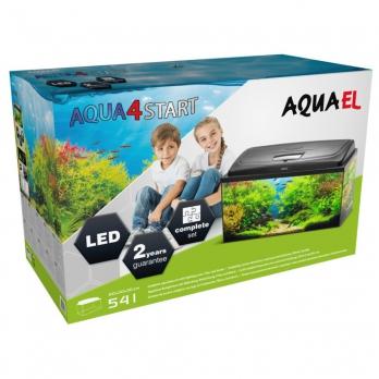 AQUAEL Аквариум AQUA4 START 60 прямой 54 л, (60х32х39 см), фильтр Fan-1, нагр.FIX 50 Вт, съемный светодиодный модуль LEDDY TUBE SUNNY 10 W / 6500 К - 1 шт