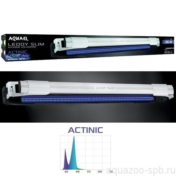 AQUAEL Cветильник для аквариума LEDDY SLIM  ACTINIC 32W ЧЕРНЫЙ, для аквариума длиной 80-100 см
