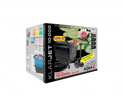 AQUAEL Прудовой комплект Klar Jet 10000 фильтр, помпа с фонтанной насадкой, UV стерилизатор, шланг-для пруда объемом 10000л
