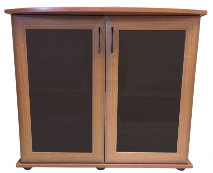 Подставка AquaPlus фигурная 70 (710*360*720) две дверки МДФ со стеклом, орех, в коробке