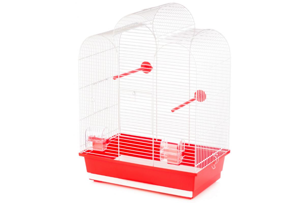 Клетка InterZoo  P-005 IZA I WHITE (450х280х615мм), для птиц, прут белый