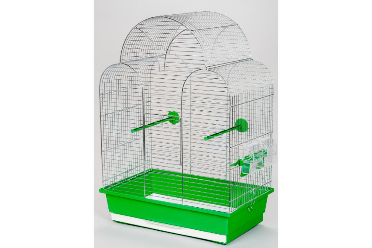 Клетка InterZoo  P-025 SONIA ZINC (450х280х630мм), для птиц, прут цинк