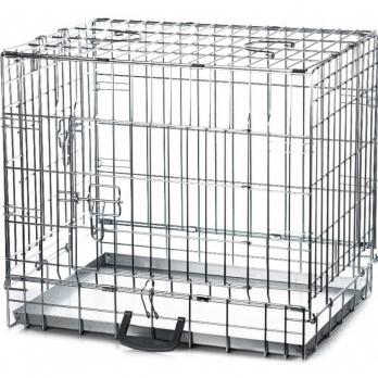 Клетка InterZoo T-02 Dog 2 ZINC (600х450х530), для собак, прут цинк