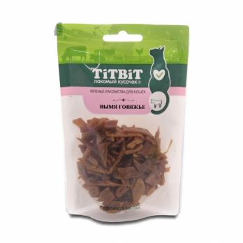 TiTBiT Вяленые лакомства для кошек, вымя говяжье