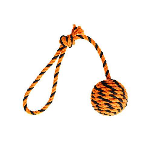 Doglike Мяч Броник малый с ручкой (оранжевый-черный)